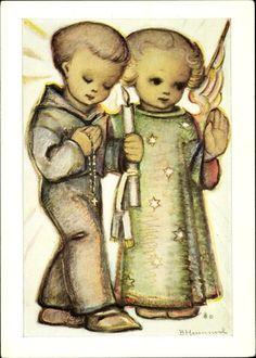 Artist Postcard Hummel, Berta, Gottes Segen zur | akpool.co.uk