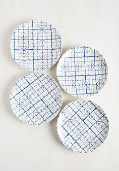 25 Decor Pieces Under $50 to Glam Up Any Room: THAT'S MY SHIBORI, STICKING TO IT PLATE SET. These are so pretty, you'll almost feel guilty eating off them...for about five seconds until you get hungry. ($39.99; Modcloth)