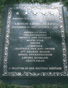 Celebrity Headstone-Gene Autry