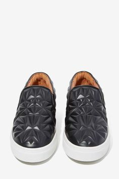 Jeffrey Campbell Sarlo 3D Leather Slip-On Sneaker - $165