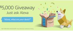 Alexa - Win a $5,000 Amazon Gift Card - http://sweepstakesden.com/alexa-win-a-5000-amazon-gift-card/