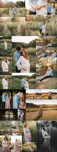 Dreamy Sunset Maternity Session in Atlanta GA - Katya Vilchyk Photography & Design - pink blush maternity kimono - lulus maternity gown - sunset maternity atlanta - atlanta maternity photographer - http://www.katyavilchyk.com/