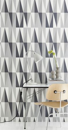 Ferm Tapet, Ferm wallpaper, Spear, Grey / Dark Grey / Off white