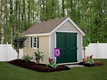 Garden Sheds Marietta Ga painted a-frame with optional flower boxes | yard ideas