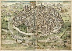 Konrad Grunemberg 1486. Pilgerreise ins Heilige Land. Wikipedia Public Domain.