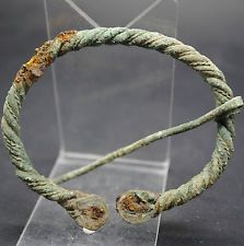 NICE ANCIENT VIKING BRONZE PENANNULAR BROOCH 9TH-11TH CENTURY AD.