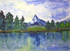 Urlaubssouvenir: Matterhorn im Schweizer Wallis   Poster von Andrea Fettweis bei Posterlounge.de