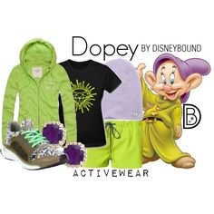 """""""Dopey"""" running outfit by DisneyBound (leslieakay on Polyvore)"""