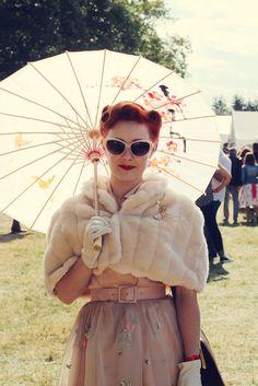Fur stole vintage retro look