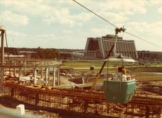 Not sure but that looks like where Carousel of Progress and/or the People Mover are now.