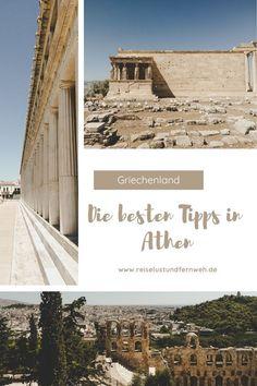 Hier findet ihr die besten Tipps für eine Reise nach Athen. Ihr erfahrt alles über die schönsten Sehenswürdigkeiten und Plätze der Stadt! #athen #städtetrip #griechenland #sommerurlaub #südeuropa Summer Vacations, Athens, Greece, Viajes, Nice Asses, Travel Inspiration, Travel Advice