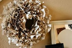 Creative ideas for you: Book Page Wreath
