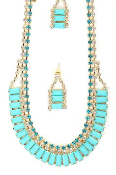 $24.00 Cleopatra Statement Necklace - Turquoise