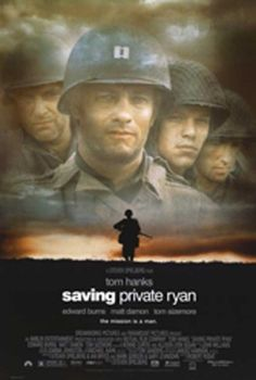 SAVING PRIVATE RYAN is a 1998 American epic war film set during the invasion of Normandy in World War II. It was directed by Steven Spielberg, starring Tom Hanks and Matt Damon. One of the best war movies of all time. See Movie, Movie List, Movie Tv, Hard Movie, Epic Movie, Movie Scene, Matt Damon, Old Movies, Great Movies