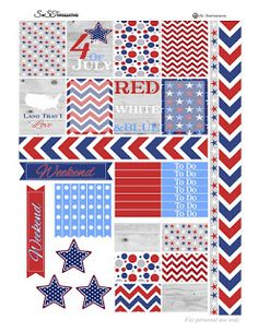 FREE Fourth of July Printable Planner BY Snstreasures