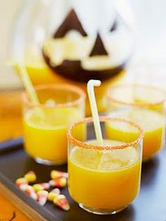 Witches Brew Mocktail - would be fun for the kids before school on Halloween! Or to serve at a party...