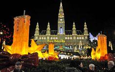 Veja as luzes de Natal pelo mundoFeira de Natal, Viena (2009)