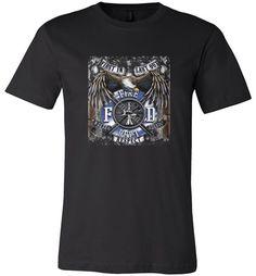 Amazing Fire Dept. Honor Respect Courage Bald Eagle Unisex T-Shirt