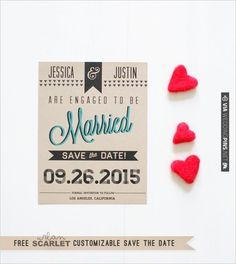 Free Customizable Modern Printable Save The Date. $0 | CHECK OUT MORE IDEAS AT WEDDINGPINS.NET | #printableweddingtemplates
