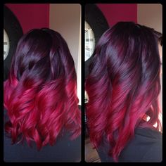 Red Ombre hair, Hair colors, hairstyles, red hair ❤