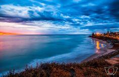 Christies Beach at sunset   By: Ben Heide Photography