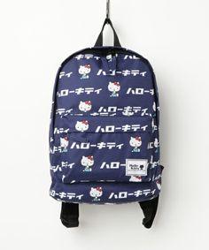 Hello Kitty Backpack Japanese Logo Navy  sanrio  hellokitty  backpack   japaneselogo Hello Kitty 0cf10666f3523