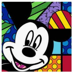 Romero Britto, Hey You, Mickey Serigraph on Gesso Board One in Available, Amour d'Art, Fine Art Gallery Mickey Mouse And Friends, Mickey Minnie Mouse, Mickey Mouse Cartoon, Diy Canvas Art, Canvas Art Prints, Disney Pop Art, Miki Mouse, Painting Templates, Arte Country