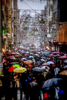 İstiklal Street by Yaşar Koç on .Istanbul in the rain Places To Travel, Places To See, Turkey Travel, Perfect World, Istanbul Turkey, Africa Travel, Belle Photo, Amazing, Beautiful Places
