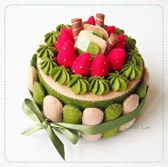 Green Tea Felt Cake by bibiluv.deviantart.com on @deviantART