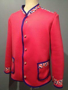 EuroCouturist neoprene Nehru jacket. Patriotic Clothing, Patriotic Outfit, Clothing Branding, Nehru Jackets, Union Jack, Madness, British, Clothes, Accessories