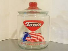 Tom's Jar Peanut Eagle Great American Snacks Cookies Candy Flag Patriotic New | eBay