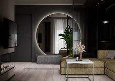"Apartment in Kharkiv ZHK ""Dom na Sokol'nikakh"" - Dezign Ark (Beta) Home Room Design, Dream Home Design, Loft Design, Master Bedroom Design, Home Interior Design, Bathroom Design Luxury, Modern Bathroom Design, Modern House Design, Elephant Home Decor"