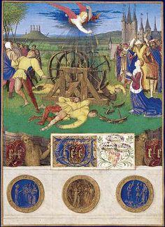 Martyre de sainte Catherine d'Alexandrie, Heures d'Etienne Chevalier, vers 1452-1460; Musée Condé, Chantilly
