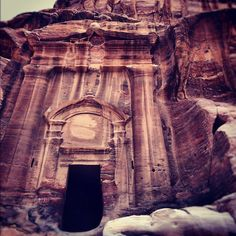 The carvings are awesome...at Petra, Jordan.