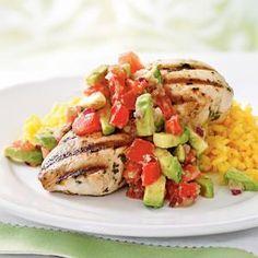 Cilantro-Lime Chicken with Avocado Salsa | MyRecipes.com