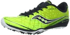 Saucony Shay XC3 Spike-M Mens Spike Cross-Country Shoe,Citron/Black,8 M