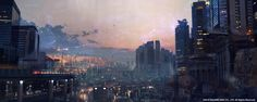 ArtStation - Final Fantasy XV | Kingsglaive | Insomnia city view, Paul Chadeisson
