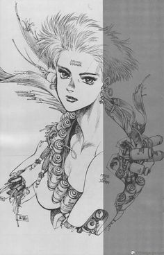 Ghost in the Shell Human-Error Processor Manga - Chapter 2 Page 5 - Read Ghost in the Shell Human-Error Processor Manga Chapters Cyberpunk Anime, Cyberpunk Art, Old Anime, Manga Anime, Ghibli, Character Art, Character Design, Character Reference, Masamune Shirow