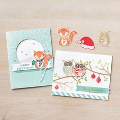 Cozy Critters Photopolymer Stamp Set by Stampin' Up!