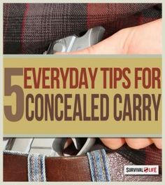 5 Concealed Carry Tips for Responsible Gun Owners Survival Life, Survival Prepping, Emergency Preparedness, Survival Skills, Survival Gear, Survival Gadgets, Survival Quotes, Survival Stuff, Outdoor Survival