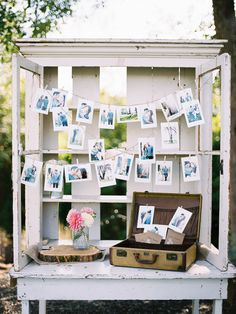 Wedding photo display on your gift table. Maybe of all your families on their wedding day perhaps? Wedding Welcome Table, Wedding Reception Decorations, Wedding Ceremony, Our Wedding, Dream Wedding, Wedding Ideas, Wedding Themes, Trendy Wedding, Party Themes