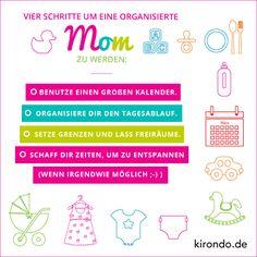 4 Schritte um eine organisierte #Mama zu werden