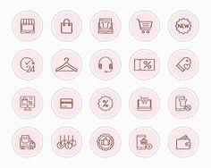 Business Instagram Icons E-commerce Instagram Story Icons | Etsy Feeds Instagram, Pink Instagram, Story Instagram, Instagram Story Template, Instagram Tips, Iphone Logo, Iphone Icon, Iphone App, Symbole Instagram