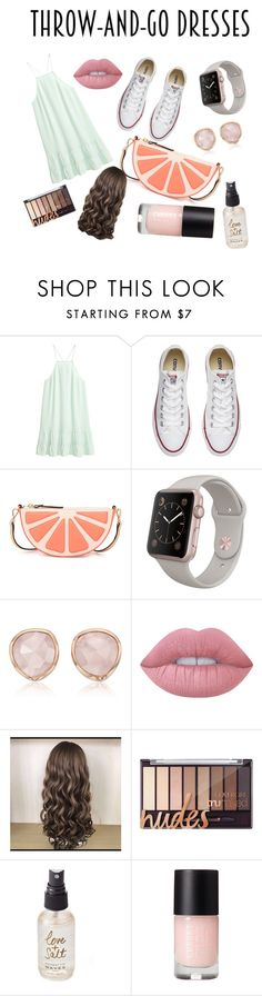 """""""#throw-and-go"""" by apeifley-1 ❤ liked on Polyvore featuring Converse, Kate Spade, Monica Vinader, Lime Crime and Olivine"""
