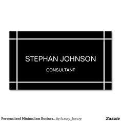 Personalized Minimalism Business Card