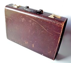 Vintage Presto Worn Leather Briefcase by PoorLittleRobin, $26.00