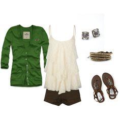 Cardigan.  Tank.  Shorts. --- Spring Perfection.