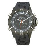 Henley Sports Watch on Silicone Strap Mens Digital Watch with Grey Dial Analogue  Digital Display- http://www.siboom.co.uk/compare-prices-compare-prices-jewellery-watches_c109814.html.html?catt=compare-prices-jewellery-watches&k=Fashion+men+watches&ppa=4 Chronograph  Day dateyear function  Silicone strap  Gun metal case  El backlight  Henley Gents Watch Model Number  HDG02013 Details  Henley gents dual display watch Black and grey tone dial wi