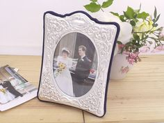 Silver Photo Picture Frame in Ornate Victorian Style Hallmarked 2014