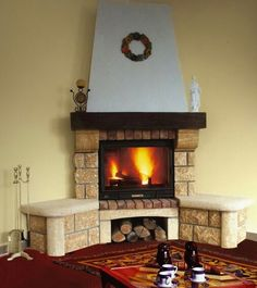 Cottage Fireplace, French Country Cottage, Design Case, Spanish Style, Habitats, Living Room, Decoration, House, Home Decor